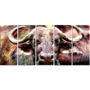Digital Art PT2325-401 Bull in the Herd Large Animal Canvas Art