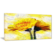 Digital Art PT3440-40-20 Pair of Yellow Flowers Floral Canvas Art