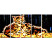 Digital Art PT2352-401 Vivid Kittens Large Animal Canvas Art