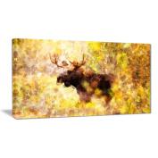 Digital Art PT2454-40-20 Magnificent Moose Animal Canvas Art