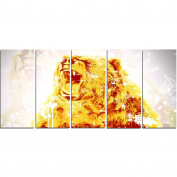 Digital Art PT2349-401 Sparkling Bear Large Animal Canvas Art