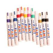 Overfeel 12 Colours Waterproof Metal Glass Fine Paint Oil Based Art Marker Pen