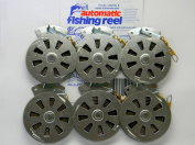 6 Mechanical Fisher's Yo Yo Fishing Reels -Package of 1/2 Dozen- Yoyo Fish Trap -