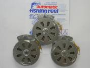3 Mechanical Fisher's Yo Yo Fishing Reels -Package of 3 Reels- Yoyo Fish Trap -