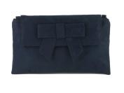 LONI Womens Clutch Bag Shoulder Bag Wristlet in Suede Faux Leather