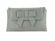 LONI Womens Clutch Bag Shoulder Bag Wristlet in Suede Faux Leather