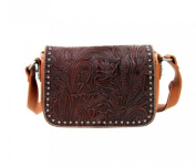 Trinity Rancy Western Inspired Montana West Purse Genuine Tooled Leather