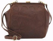 Yoshi Lichfield LeatherTeardrop Frame Applique Bag Cross Body Purse