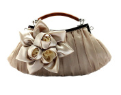 Genda 2Archer Embellish Sheer Chiffon Exterior Big Floral Party Clutch Evening Handbag