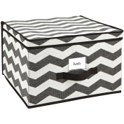 . , Breathable Non-Woven Material HouseCandie Storage Box, Chevron Faux Jute, Jumbo