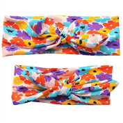 Baby Mother Elastic Headband Bowknot Flower Bohemian Style Headdress Hair Accessory