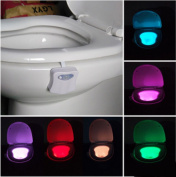 Colourful Motion Sensor Toilet Nightlight for Home Toliet Bathroom Human Body Auto Motion Activated Sensor Seat Light Night Lamp 8-Colour Changes