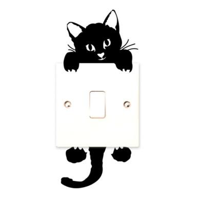 Cat Light Switch Stickers