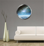 60cm Porthole Instant Outer Space Ship Window View SPACE SHUTTLE GALAXY #1 SILVER Wall Decal Kids Sticker Room Home Art Décor Graphic MEDIUM