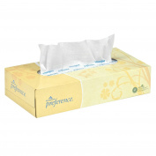 Georgia-Pacific Preference 48100 White 2-Ply Facial Tissue, Flat Box, 22cm Length x 19cm Width