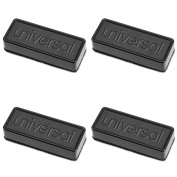 Dry Erase Eraser, Synthetic Wool Felt, 5w x 1 3/4d x 1h, 4 Packs