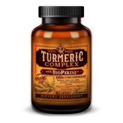 100% Organic Turmeric Complex with BioPerine® Black Pepper Extract and 95% Curcuminoids - Anti-Inflammatory, Antioxidant, Joint Pain Relief - 180 Vegetarian Capsules