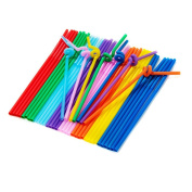 Ewandastore Excellent Quality Colourful Extra Long Flexible Bendable Disposable Drinking Straws