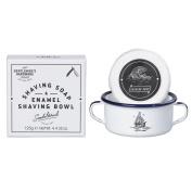 Gentlemen's Hardware Apothecary Shaving Soap and Enamel Bowl, White