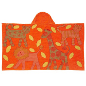 Breganwood Organics Kids Hooded Towel, Jungle - Orange