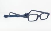 Miraflex New Baby2 Kids Eye Glass Frames | 42/14 Navy Blue | Age:5-8