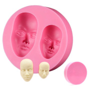 3D Face Cake Mould Facial Head Human Silicone Icing Sugarcraft Fimo Chocolate