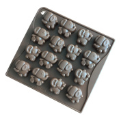 Always Your Chef 16-Cavity Candy Moulds Chocolate Moulds Small Elephant Shaped, Random Colours