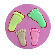 Mr.S Shop Small Big Foot Feet Silicone Mould Cake Decorating Chocolates Soap Mould Kitchen Baking Tools