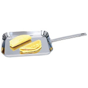 28cm T304 Stainless Steel STOVETOP GRILL Kitchen Flat Stove Top Griddle Pan
