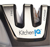 KitchenIQ 50009 Edge Grip Black 2 Stage Knife Sharpener , By Watchy Shop