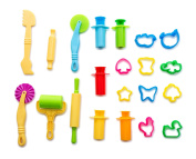 Goodlucky365 Set of 21pcs Smart Dough Tools Kit with Moulds and Extruder Tools, Animals Shape, Assorted Colour