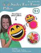 Big Smile Face, Emoji, Sew and Stuff Kit. Felt Pillow Ideal Kids Craft Kit Includes all Supplies. Fun Activity. Ages 5-12. All Inclusive Arts and Crafts, w/ Vibrant Colours Ideal Rainy Day Activity