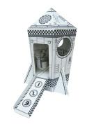 Funny Paper Furniture Mini Rocket DIY Cardboard Toy - 27cm x 26cm x 38cm