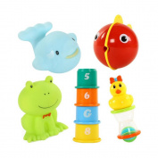 ZhiDa Baby Squirting Bath Toy, Fun Bathtime, Set of 8, 12 Months and Up