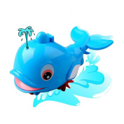 ZhiDa Baby Bath Tub Toys Fun Swimming Dolphin Bathtub Toy Water Squirter for Over 1 Year Old Kids Toddlers Fun Bathtime