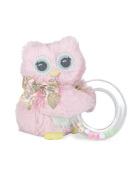 Bearington Baby Lil' Hoots Owl Shaker Ring Rattle 13cm