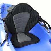 Docooler® Deluxe Padded Kayak / Boat Seat Soft and Antiskid Padded Base High Backrest Adjustable Kayak Cushion with Backrest