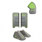 STX Field Hockey Deny Youth Goalie Set with Goalie Gloves, Kickers and Leg Guards, One Size, Grey
