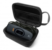FitSand (TM) Flip Travel Carry Zipper Sleeve Portable Protective EVA Hard Case Cover Bag Box for Logitech webcam C525