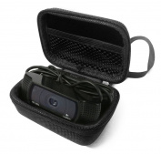 FitSand (TM) Flip Travel Carry Protective Zipper Portable EVA Hard Case Cover Bag Box for Logitech webcam C920