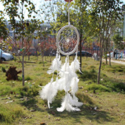 1 X New! Circle-shaped Dream Catcher with Feathers Wall Hanging Decoration Ornament for Car or Wall Hanging