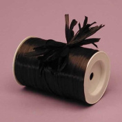 Black Matte Raffia Ribbon, 0.6cm X 100 Yards by Paper Mart