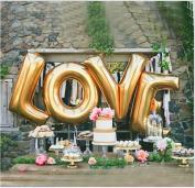 B-G LOVE (110cm ) Large Balloon Set, Romantic Wedding, Bridal Shower, Anniversary, Engagement Party Décor, BirthdayDécor, Vow Renewal H009