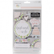 Project Life Southern Weddings Edition Chipboard Stickers