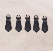 WellieSTR Black Zipper Pulls 10 Pack - For Leather Boot/Jacket/Bag/Purse