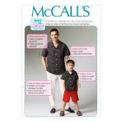 "McCall Pattern Company M6972 Men's/Boys' Shirt, Shorts and Pants, Size ADT ""SML-MED-LRG-XLG"""
