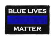 Police Blue Lives Matter Thin Blue Line hook and loop Tactical Morale Patch