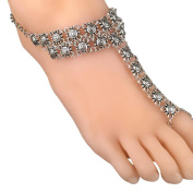 Yoyorule Coin Medallion Ladies Retro Style Exaggeration Mittens Anklet