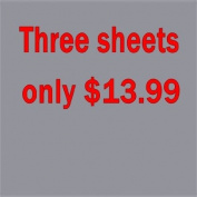 3 sheets of 30cm x 38cm Siser Easyweed Heat Transfer Vinyl, IRON ON T-shirt Heat Transfer, Craft Garment,