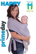 Buy & Smile Baby Sling Wrap carrier. Baby Hat |Soft & breathable|Grey